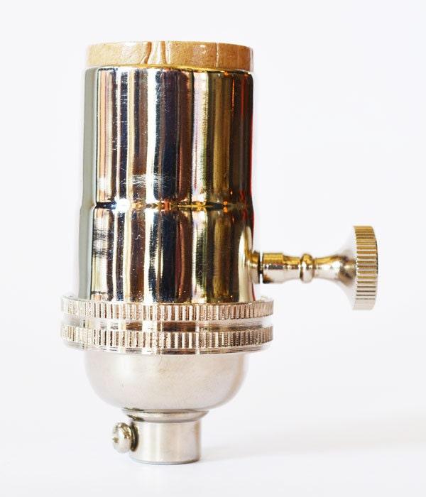 Electrical Lamp Socket Light Socket Polished Nickel Finish