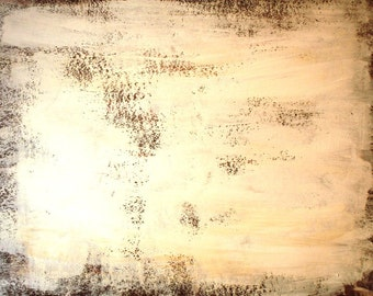 """BROWN REFLECTION - large original modern abstract wall decor painting, size: 30"""" X 52"""" (77 X 132 cm)"""