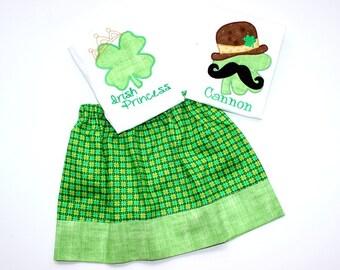 Sibling St Patricks Day outfit matching brother sister St patricks Day matching sibling st paticks day outfits boys Shamrock Irish princess