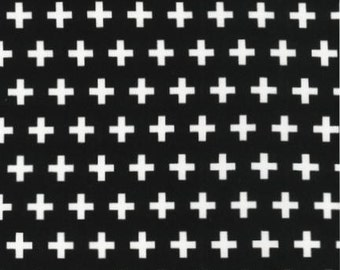 One Yard -  Remix Crosses in Black by Ann Kelle for Robert Kaufman - 1 yard