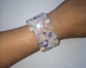 Queen Cuff - Swarovski crystal cuff bracelet