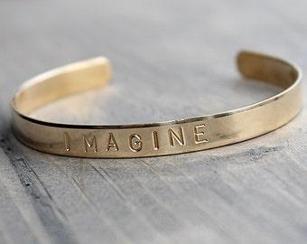 IMAGINE Brass Cuff Bracelet