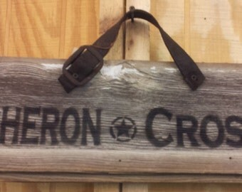 Percheron Crossing ~ Draft Horse - Repurposed Barnwood Sign
