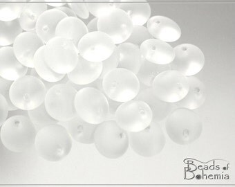 Crystal Matted Czech Lentil Beads 8 mm, 30 pcs (8304)