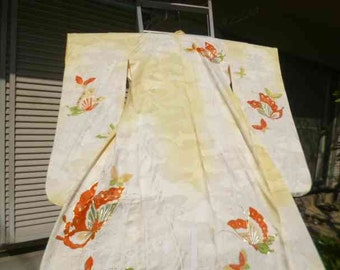 Vintage Japanese Wedding kimono  1900 to 1940 K015 Spectacular