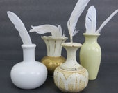 Vintage Miniature Vase Collection in White, Cream & Gold with Kronach Bavarian Porcelain Vase - Plank and Pearl