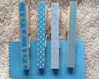 Decorative It's a BOY Clothespins with or without magnets