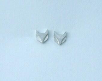 Fox Stud Earrings in Sterling Silver