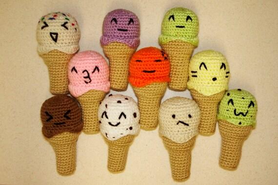 Mini Ice Cream Amigurumi : Emoji Amigurumi Ice Cream Cones