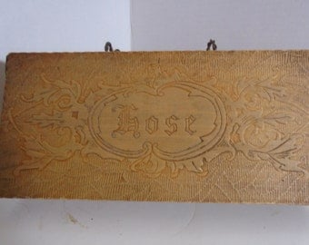 Vintage Wooden Hose Box