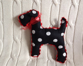 Handmade mini spotty dog