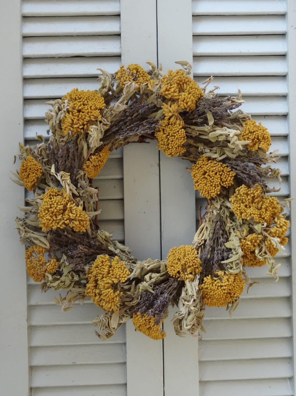 Kitchen Herb Wreath Dried Sage Wreath Dried Floral Wreath