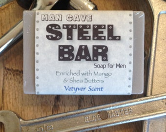 Man Cave Steel Bar....Soap for Men
