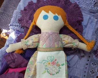 Hand made rag doll Mabel