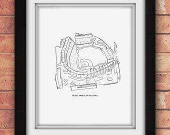 Cincinnati Great American Ballpark Print