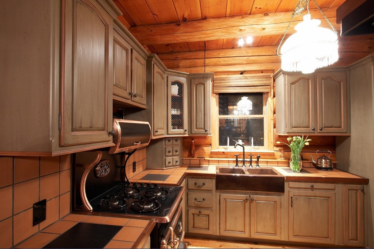 Custom Kitchen Cabinets / Cabinets Made To Order / Log Home