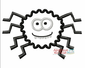 Goofy Spider Applique Design