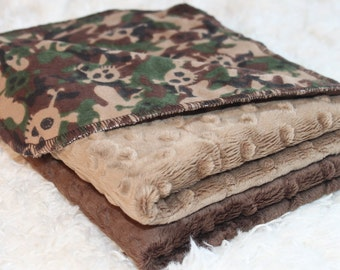Baby Burp Cloths, Skulls and Camouflage