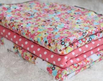 Baby Burp Cloths, Polka Dots,Flowers, and Hearts Burp Cloths,