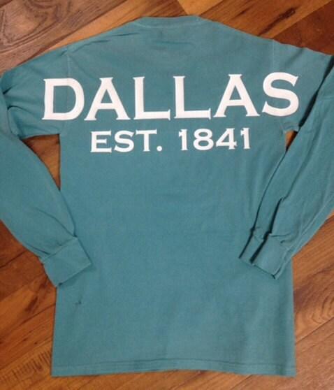 Custom dallas texas spirit shirt any city state shirt texas for Custom made shirts dallas
