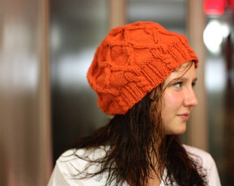 Cozy Cabled Slouchy Knit Hat