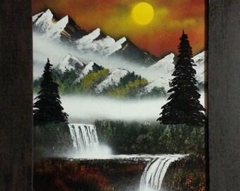 "Spray Paint Art ""Paradise Found""  original signed spray paint art by artist Jim Beard"