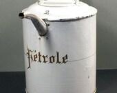 antique petrole can enamel around 1900 2 Liter