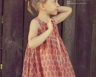 Nohara dress - twirly dress pattern - toddler sewing patterns pdf - INSTANT DOWNLOAD