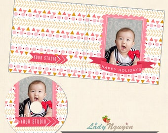 Instant Download CD/DVD Label and cover templates - CD038