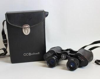 Vintage Bushnell Binoculars with Leather Case, Field Sport Binoculars, Gift for Outdoor Enthusiast, Gift for Hunter, Bird Wildlife Watcher
