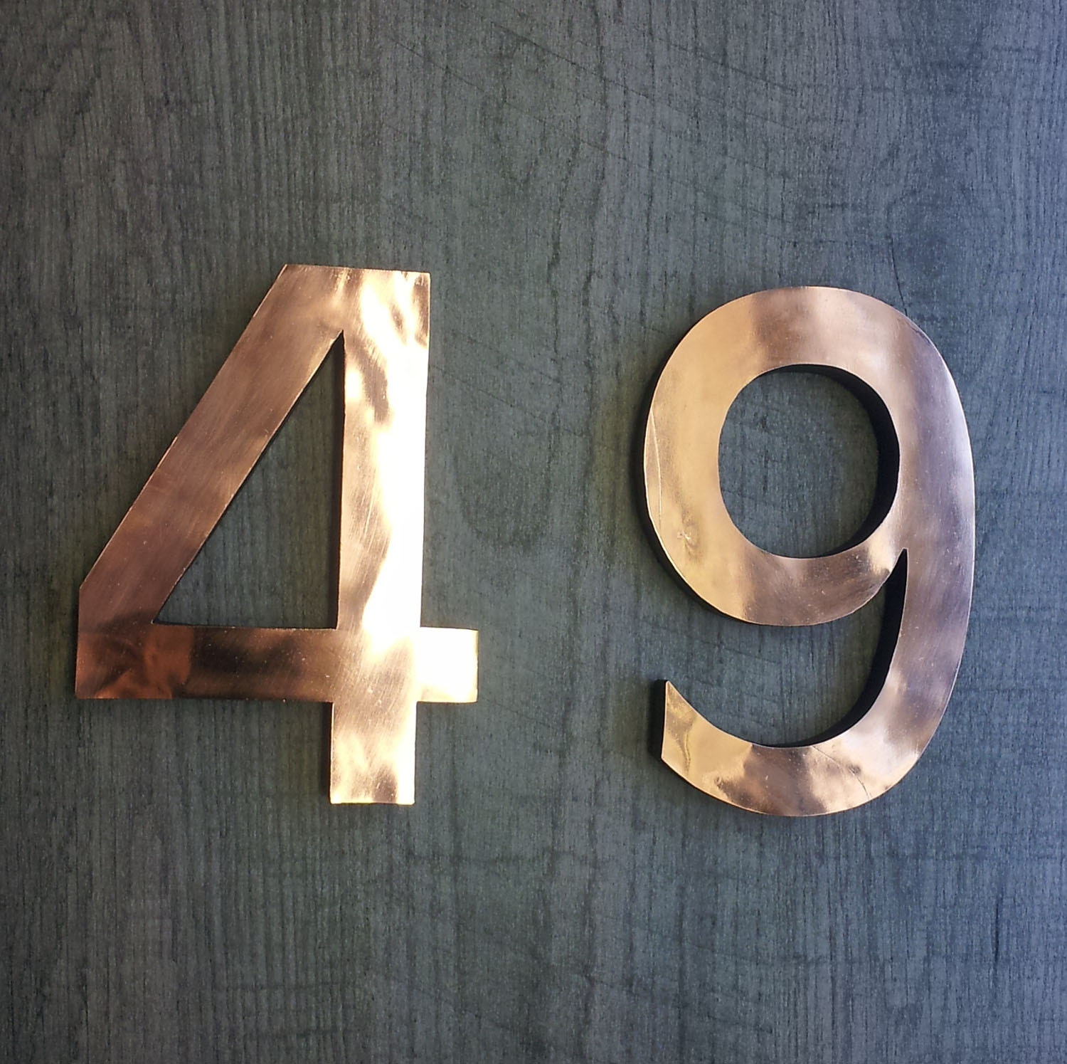 Large architectural copper 3d numbers 12 305mm high for Large 3d numbers