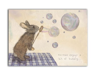 Norman the Rabbit Print // A4 Giclee Print // Nursery Print