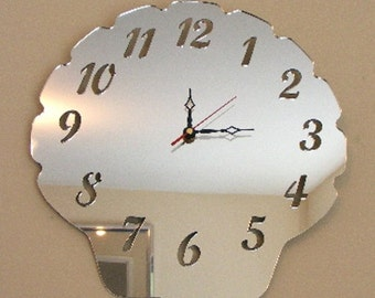 Shell Clock Mirror - 2 Sizes Available