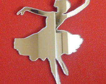 Dancing Ballerina Shaped Mirrors - 5 Sizes Available