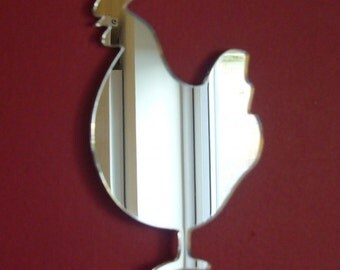 Cockerel Mirror - 5 Sizes Available. Also available in packs of 10  Crafting Mirrors