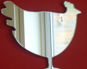 Hen Chicken Mirror - 5 Sizes Available