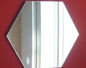 Hexagon Shaped Mirrors -  5 Sizes Available.