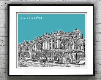 Saint Petersburg Russia Poster Hermitage Building