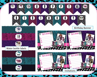 Monster High Birthday Printables