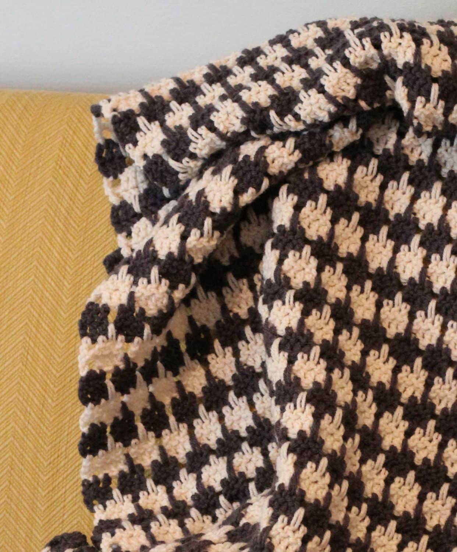 Crochet Houndstooth Afghan Pattern