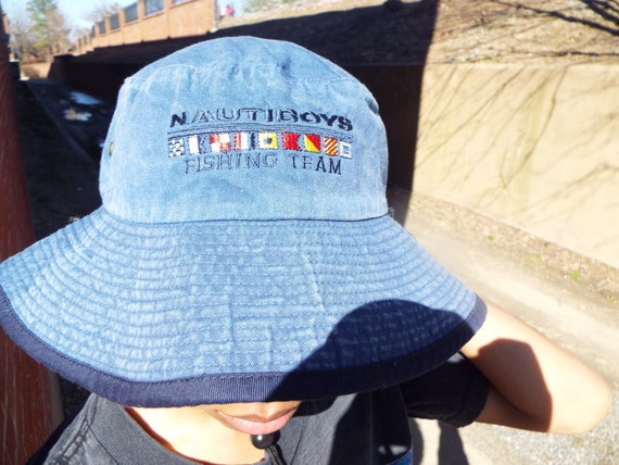 Vintage Nautica Boys Fishing Bucket Hat