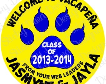 PERSONALIZED STICKERS - Custom SCHOOL Stickers -Any Color Any Mascot-  Round Gloss Labels - Perfect for Fundraisers