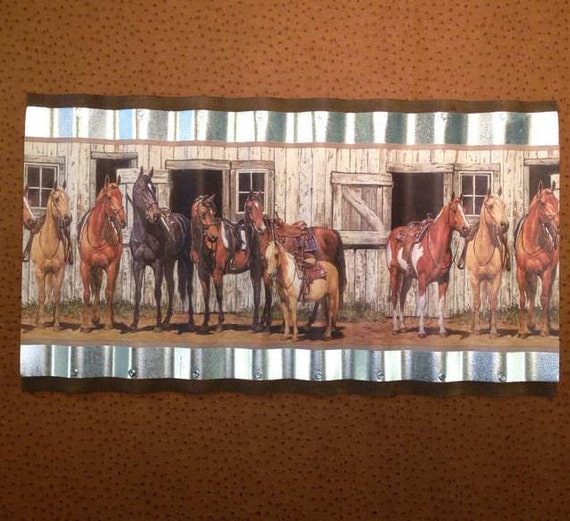 wiggle art metal western horse wallpaper border by