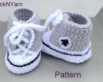 Baby Converse Pattern, Converse Pattern, Booties pattern, baby booties pattern, toddler shoes, toddler booties, baby shoes, baby booties