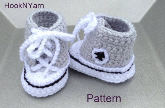 Baby Converse Pattern Converse Pattern Booties pattern baby
