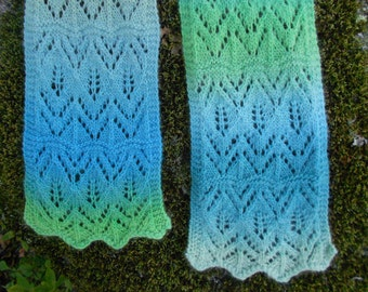 Floating Leaves Lace Scarf