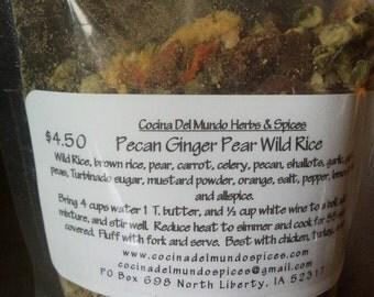 Pecan Ginger Pear Wild Rice, Pecan Ginger Pear Pilaf, Pear Pecan Rice Stuffing