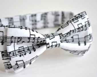 Music bow tie  for kids, Bow tie , Bow tie clip on, baby bow tie