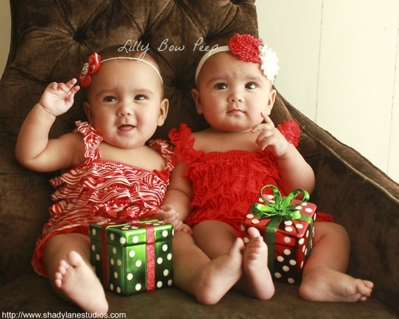 Twin outfit newborn infant preemie child toddler clothes christmas