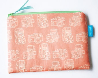 Cosmetic Bag - Zipper Pouch - Pencil Case - Camera Case - Gift